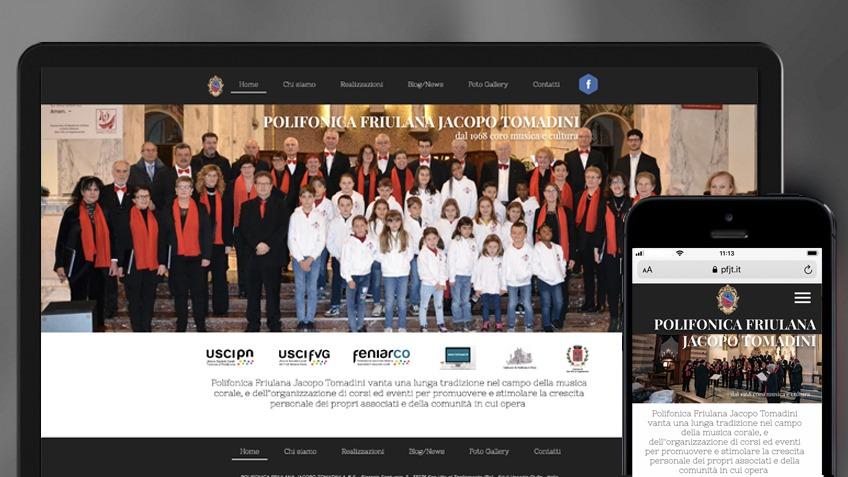 Nuovo sito web per la Polifonica Friulana Jacopo Tomadini